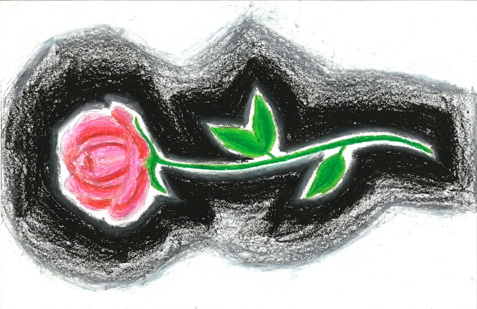 Black-Edged Rose Print