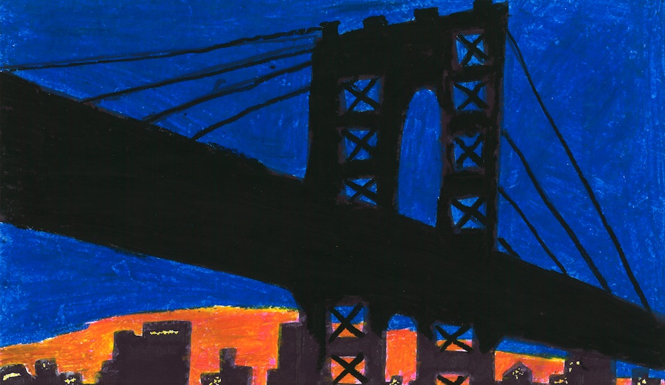 Williamsburg Bridge Skyline Print
