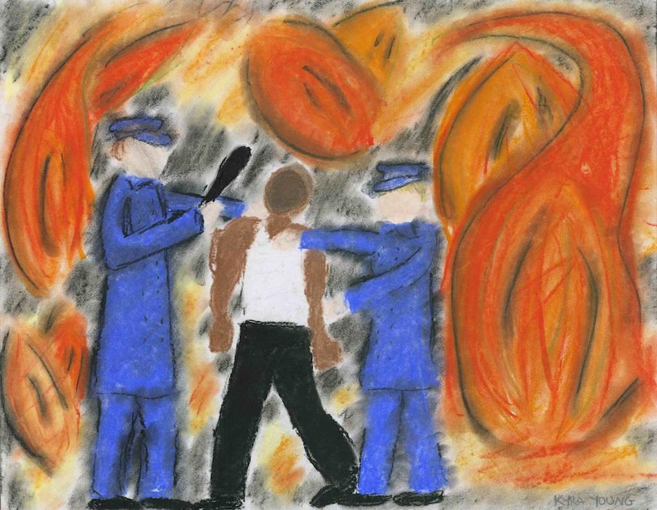 Fiery Arrest Print
