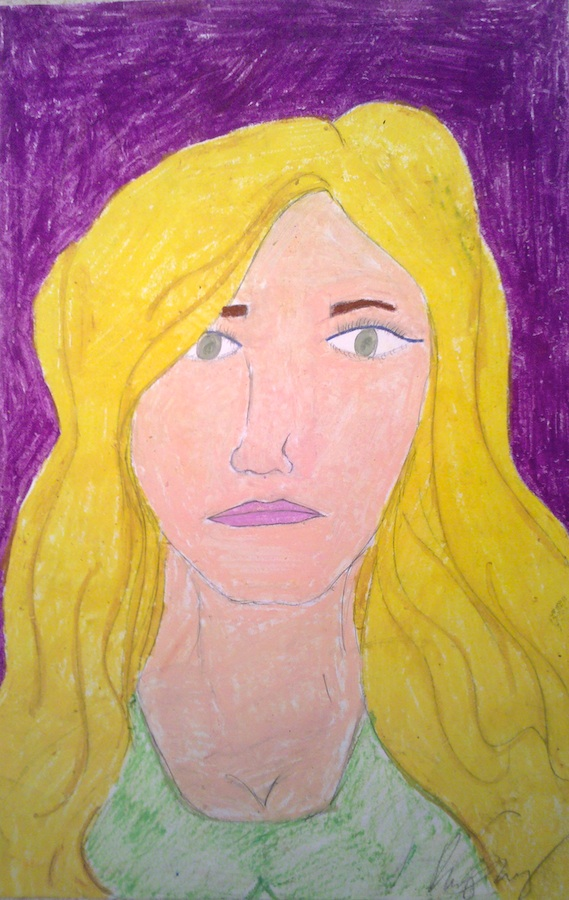 Self Portrait on Purple